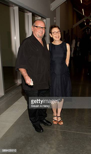 Jack Nicholson and Director of the Parrish Art Museum Terri Sultan attend the 2016 Hamptons Festival Of The Arts at Parrish Art Museum on August 13...