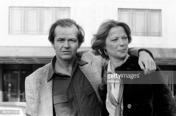 Jack Nicholson and Louise Fletcher pose for photographers outside The Dorchester Hotel to promote their new film 'One Flew Over the Cuckoo's Nest 9th...