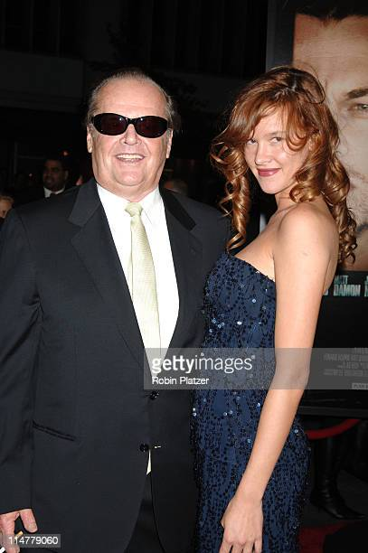 Jack Nicholson and Paz de la Huerta during 'The Departed' New York City Premiere at Ziegfeld Theater in New York City New York United States