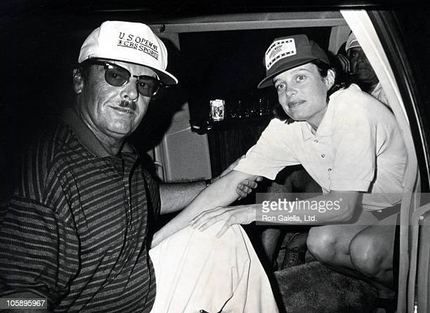 Jack Nicholson and Rebecca Broussard during US Open Tennis Tournament September 8 1991 at USTA National Tennis Center in Queens New York United States