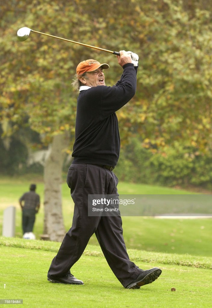 Jack Nicholson at the Riviera Country Club in Pacific Palisades, California
