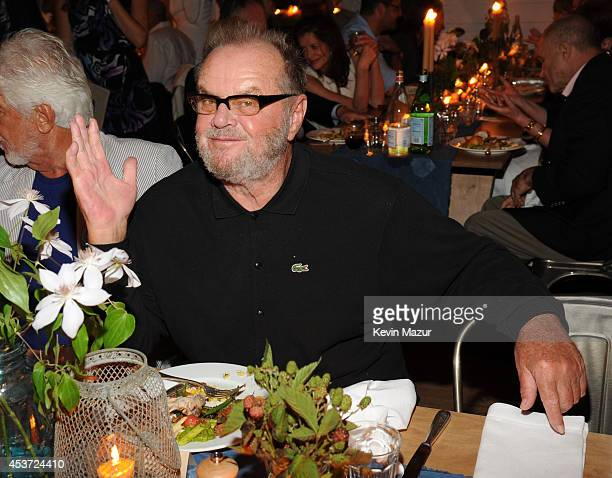 Jack Nicholson attends Apollo in the Hamptons at The Creeks on August 16 2014 in East Hampton New York