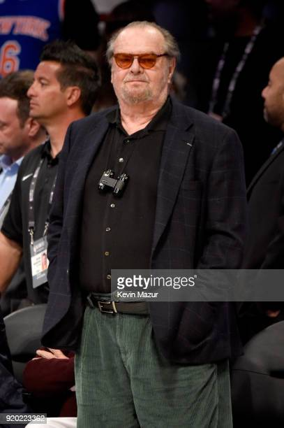 Jack Nicholson attends the 67th NBA AllStar Game Team LeBron Vs Team Stephen at Staples Center on February 18 2018 in Los Angeles California