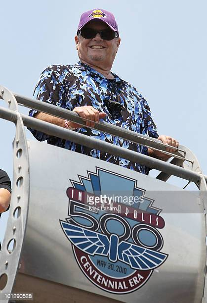 Jack Nicholson attends the IZOD IndyCar Series 94th running of the Indianapolis 500 at the Indianapolis Motor Speedway on May 30, 2010 in...