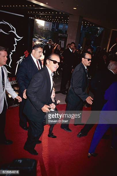 Jack Nicholson attends the opening night of the Beauty and the Beast musical with his daughter Lorraine Music by Alan Menken lyrics by Howard Ashman...
