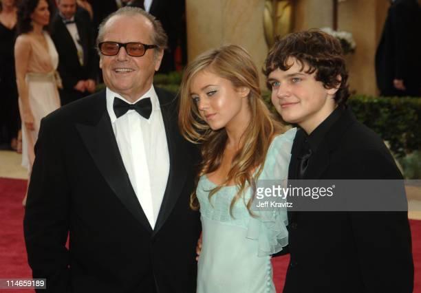 Jack Nicholson daughter Lorraine Nicholson and son Raymond Nicholson