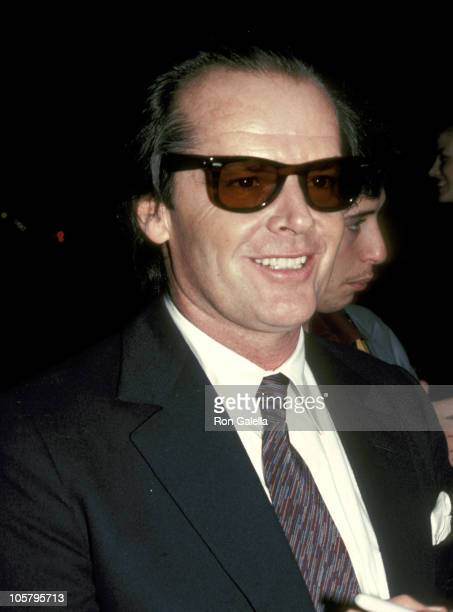 Jack Nicholson during Jack Nicholson Sighting at Spago's Restaurant in Hollywood February 1 1983 at Spago's Restaurant in Hollywood California United...