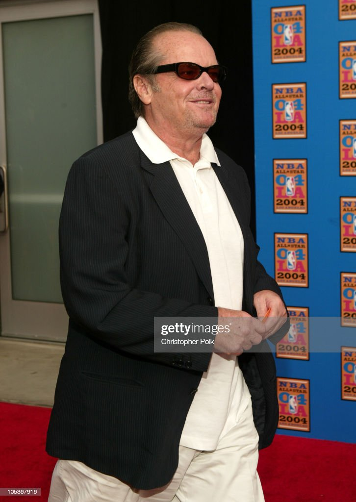 Jack Nicholson during NBA All-Star Game - Arrivals at Staples Center in Los Angeles, California, United States.