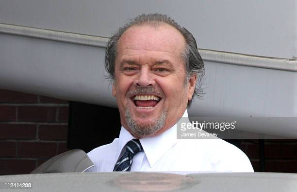 Jack Nicholson during The Departed Movie Set June 28 2005 at Long Wharf in Boston Massachusetts United States