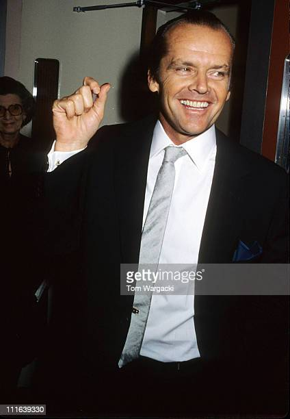 Jack Nicholson during The Shining London Premiere at Leicester Square in London Great Britain