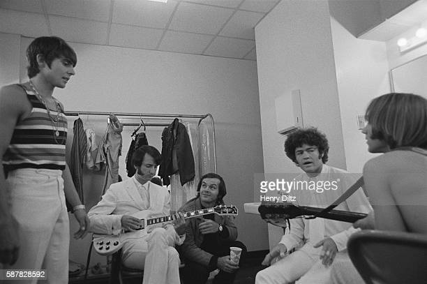 Jack Nicholson hangs out with The Monkees in their dressing room in between takes of the film Head which stars The Monkees and was written by...