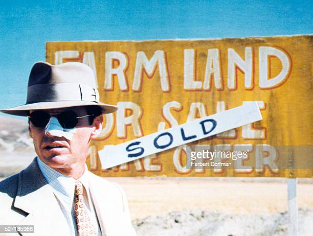 Jack Nicholson in a scene from the movie Chinatown