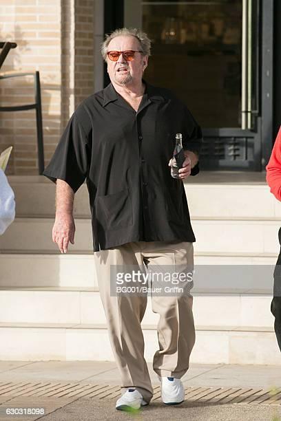 Jack Nicholson is seen on December 20, 2016 in Los Angeles, California.