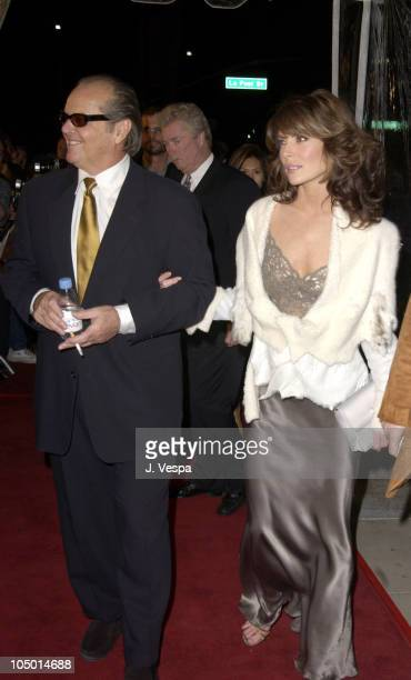 Jack Nicholson Lara Flynn Boyle during 'About Schmidt' Los Angeles Premiere Arrivals at Academy of Motion Picture Arts and Sciences in Beverly Hills...