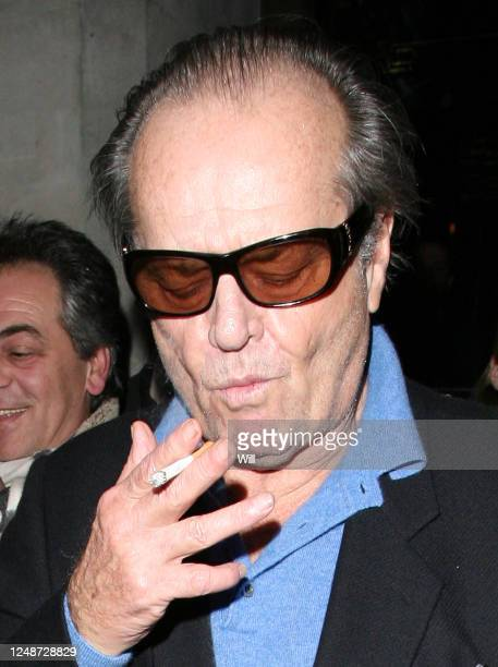"""Jack Nicholson leaving The Wolseley restaurant in Piccadilly. As he left, he commented on the death of Heath Ledger, saying """"I did tell him"""" and..."""
