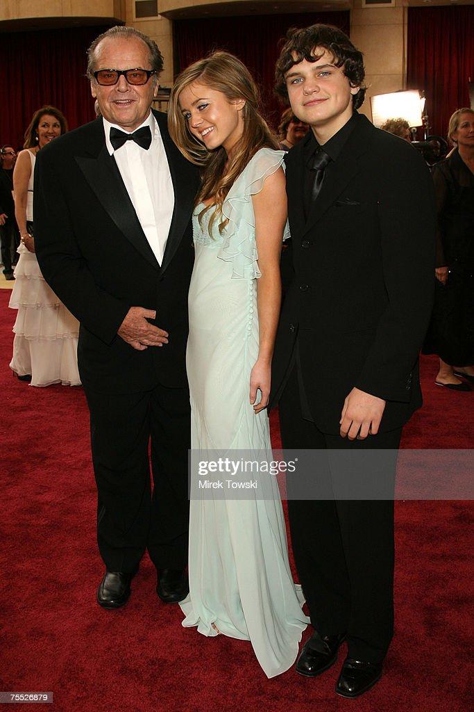 Jack Nicholson, Lorraine Nicholson, and Raymond Nicholson at the The 78th Annual Academy Awards - Arrivals at Kodak Theatre in Hollywood, California.