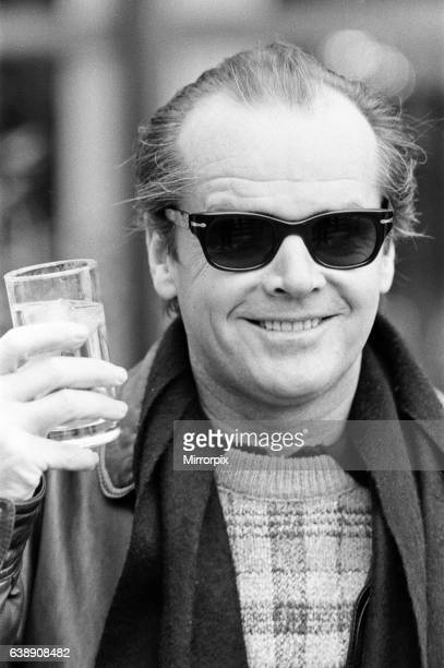 Jack Nicholson one of the stars of 'Terms of Endearment' held a press conference today in London Jack declined to take his dark glasses off for...