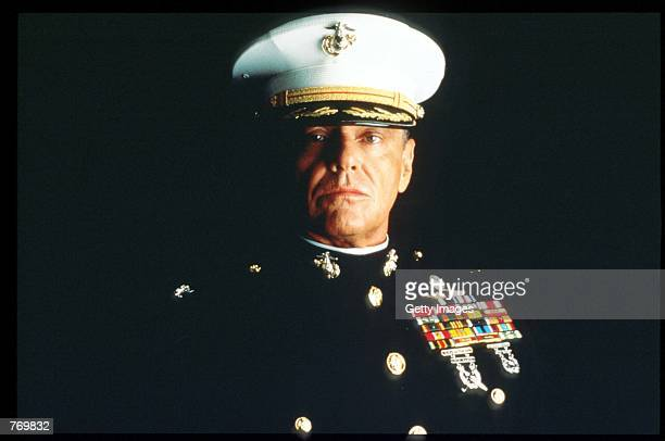 Jack Nicholson plays Colonel Nathan Jessup in the Rob Reiner film adaptation of the Broadway drama 'A Few Good Men' November 15 1991 in Washington DC...