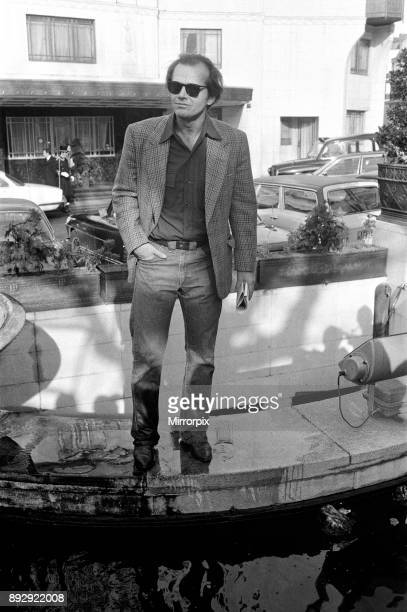 Jack Nicholson poses for photographers outside The Dorchester Hotel to promote his new film 'One Flew Over the Cuckoo's Nest' During a conversation...