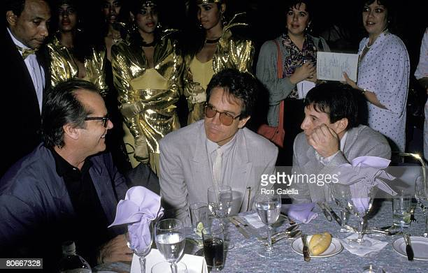 Jack Nicholson Warren Beatty and Paul Simon