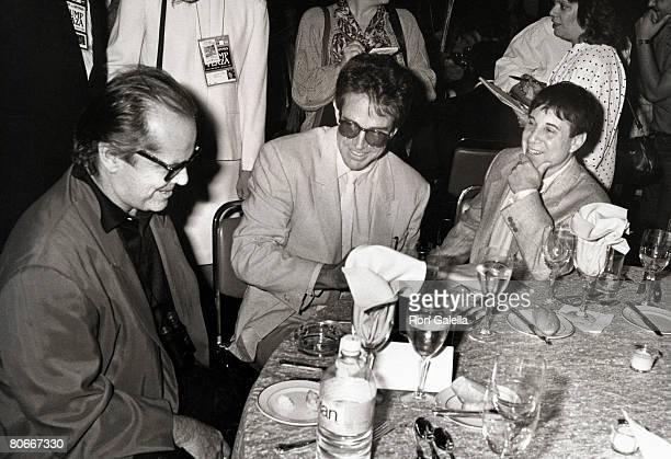 Jack Nicholson Warren Beatty and Paul Simon