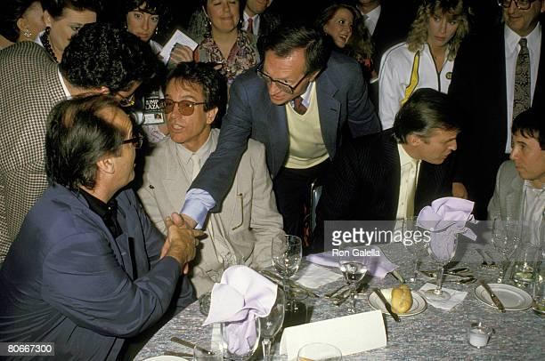 Jack Nicholson Warren Beatty Larry King Donald Trump and Paul Simon