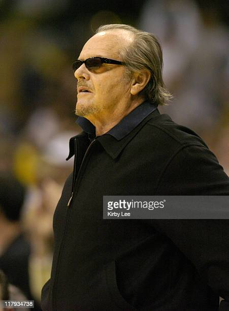 Jack Nicholson watches Los Angeles Lakers game against the New York Knicks at the Staples Center in Los Angeles, Calif. On Tuesday, March 29, 2005.