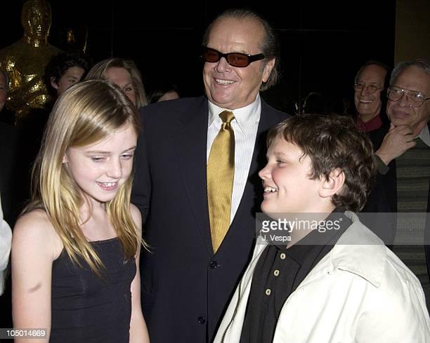 Jack Nicholson with children Lorraine Nicholson and Raymond Nicholson