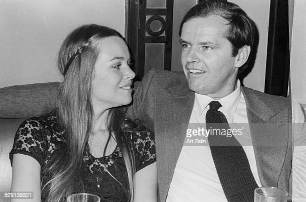 Jack Nicholson with Michelle Phillips in conversation circa 1970 New York