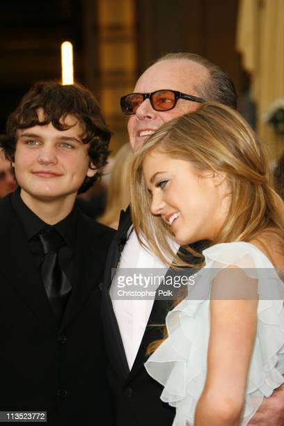 Jack Nicholson with son Raymond Nicholson and daughter Lorraine Nicholson