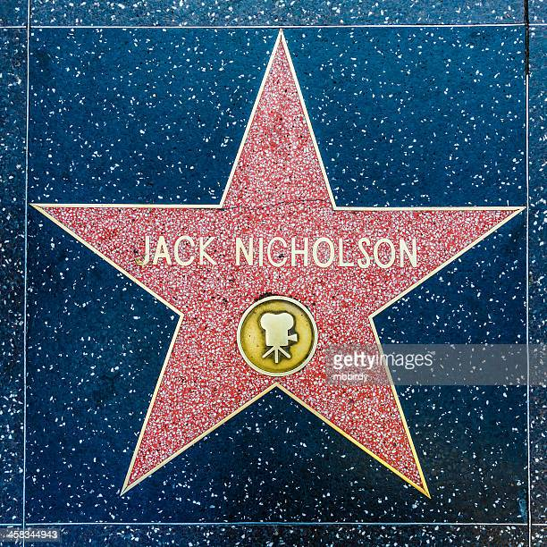 jack nicholson's star on hollywood walk of fame, los angeles - jack nicholson photos stock pictures, royalty-free photos & images
