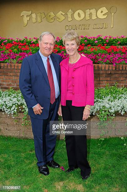 Jack Nicklaus and his wife Barbara during a ceremony honoring Jack Nicklaus as the 2013 Ambassador Of Golf at the World Golf ChampionshipsBridgestone...