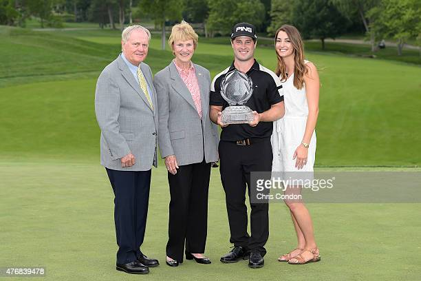Jack Nicklaus Barbara Nicklaus David Lingmerth and Megan Lingmerth pose with the tournament trophy after Lingmerth wins the Memorial Tournament...