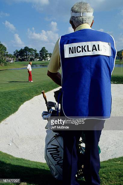 Jack Nicklaus' caddie during the 51st Senior PGA Championship held at the PGA National Golf Club in Palm Beach Gardens Florida April 1215 1990