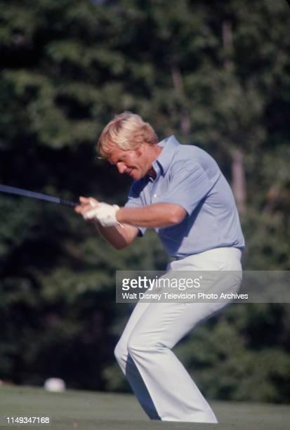 Jack Nicklaus competing in the 1973 PGA Championship / 55th PGA Championship, at Canterbury Golf Club.