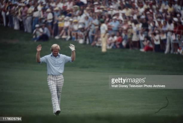 Jack Nicklaus competing in the 1975 PGA Championship / 57th PGA Championship, at the South Course of Firestone Country Club.