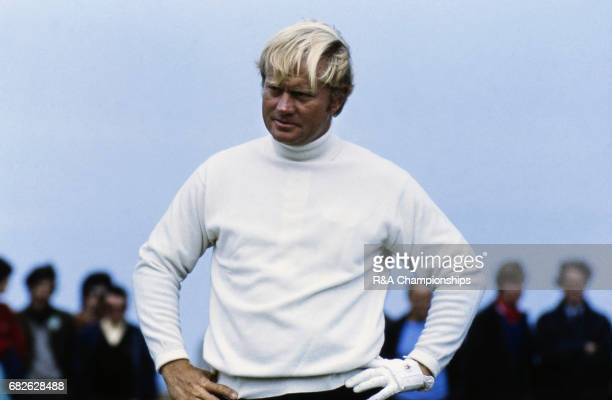 Jack Nicklaus during the 1972 Open Championship at Muirfield