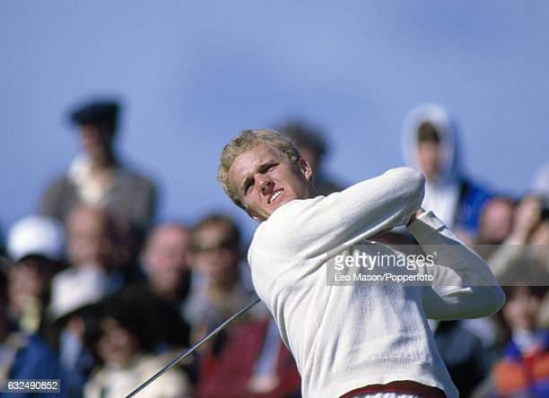 Jack Nicklaus Junior of the USA in action during the Bob Hope Classic golf tournament at Pebble Beach California circa 1985