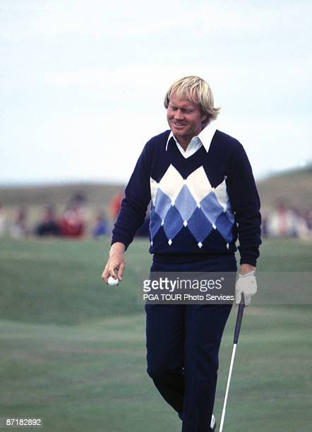 Jack Nicklaus makes his final putt on the 18th green at the British Open Championship July 15 1978 held at the Old Course in St Andrews Fife Scotland