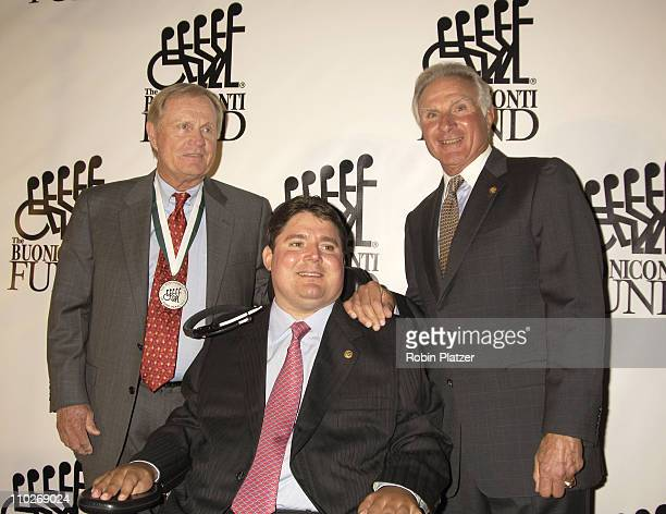 Jack Nicklaus Marc and Nick Buoniconti during The 20th Annual Great Sports Legends Dinner Benefiting The Miami Project to Cure Paralysis at The...
