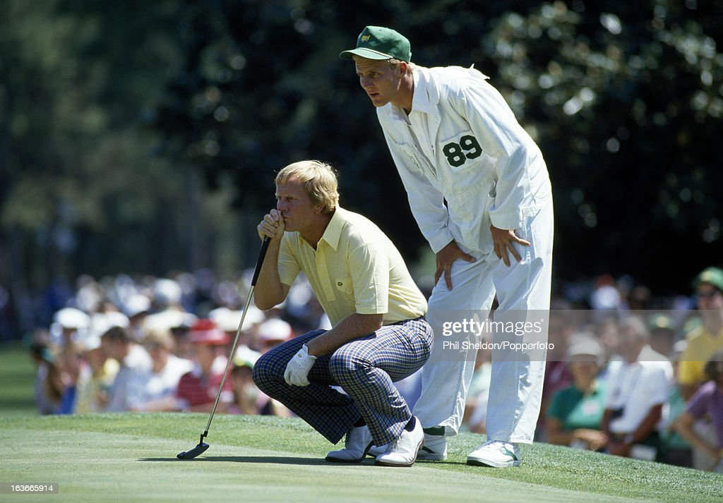 Jack Nicklaus With His Son During The US Masters Golf Tournament : News Photo