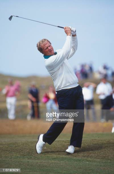 Jack Nicklaus of the United States hits an approach shot during The 120th Open Championship held at Royal Birkdale Golf Club from July 18211991 in...