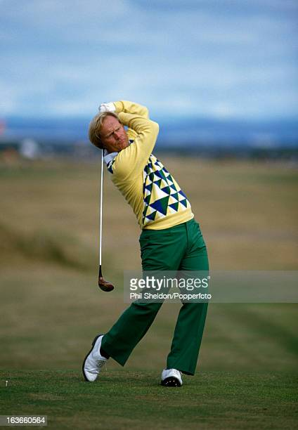 Jack Nicklaus of the United States in action during the British Open Golf Championship held at the St Andrews Golf Club in Scotland circa July 1984