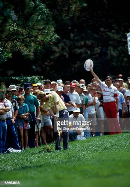 Jack Nicklaus of the United States in action during the US PGA Championship held at the Inverness Golf Club in Toledo Ohio circa August 1986