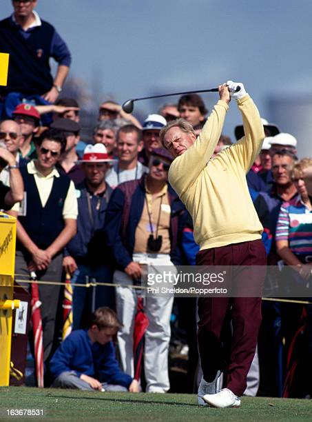 Jack Nicklaus of the United States tees off during the British Open Golf Championship held at Royal St George's Golf Club in Sandwich Kent circa July...
