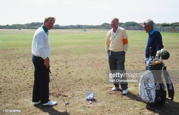 Jack Nicklaus of the United States warms up on the range during The 120th Open Championship held at Royal Birkdale Golf Club from July 18211991 in...
