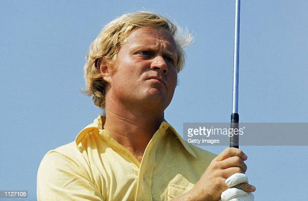 Jack Nicklaus of the USA in action during the British Open at Muirfield in Scotland in July 1972 Nicklaus finished 2nd