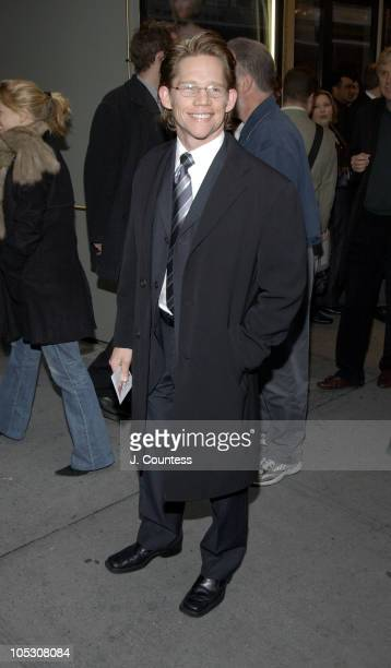 Jack Noseworthy during Opening Night of Jumpers Arrivals at Brooks Atkinson Theater in New York City New York United States