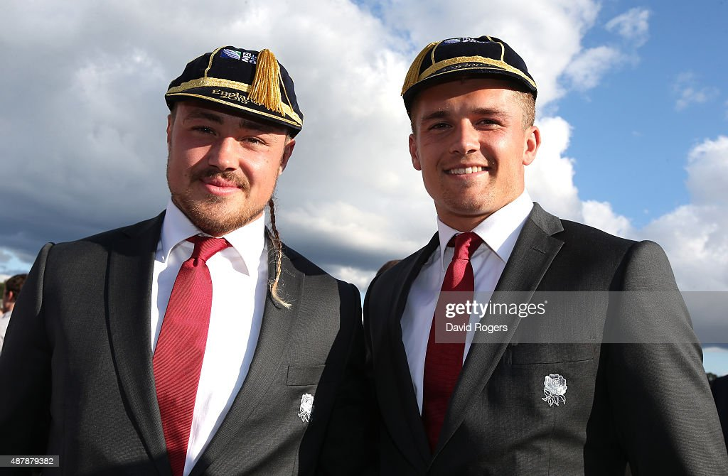 England World Cup Rugby Welcome Ceremony : News Photo