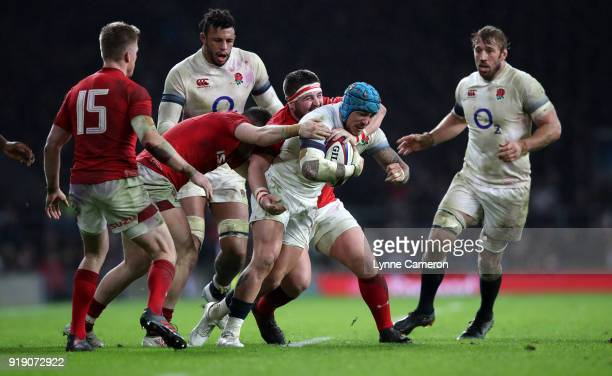 Jack Nowell of England during the NatWest Six Nations match between England and Wales at Twickenham Stadium on February 10 2018 in London England